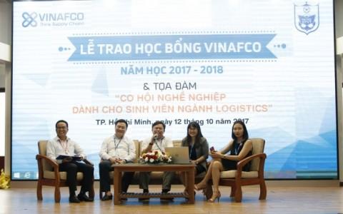 Lễ trao học bổng Vinafco & Tọa đàm với Sinh Viên Ngành Logistics
